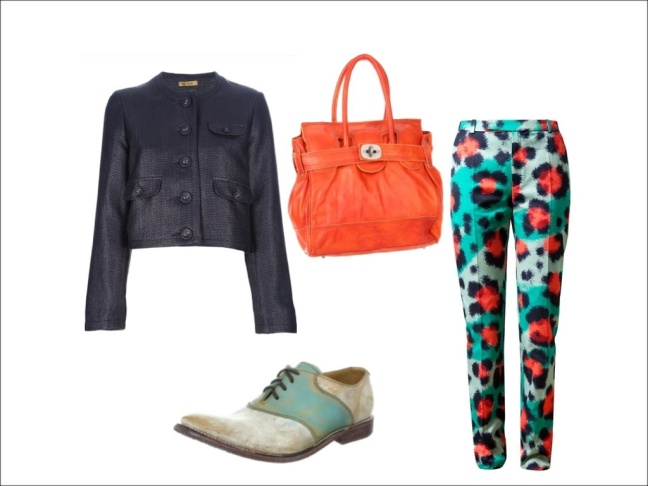 How to rock kenzo printed trousers!