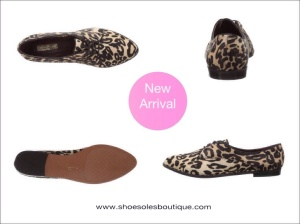 Report signature leopard oxfords